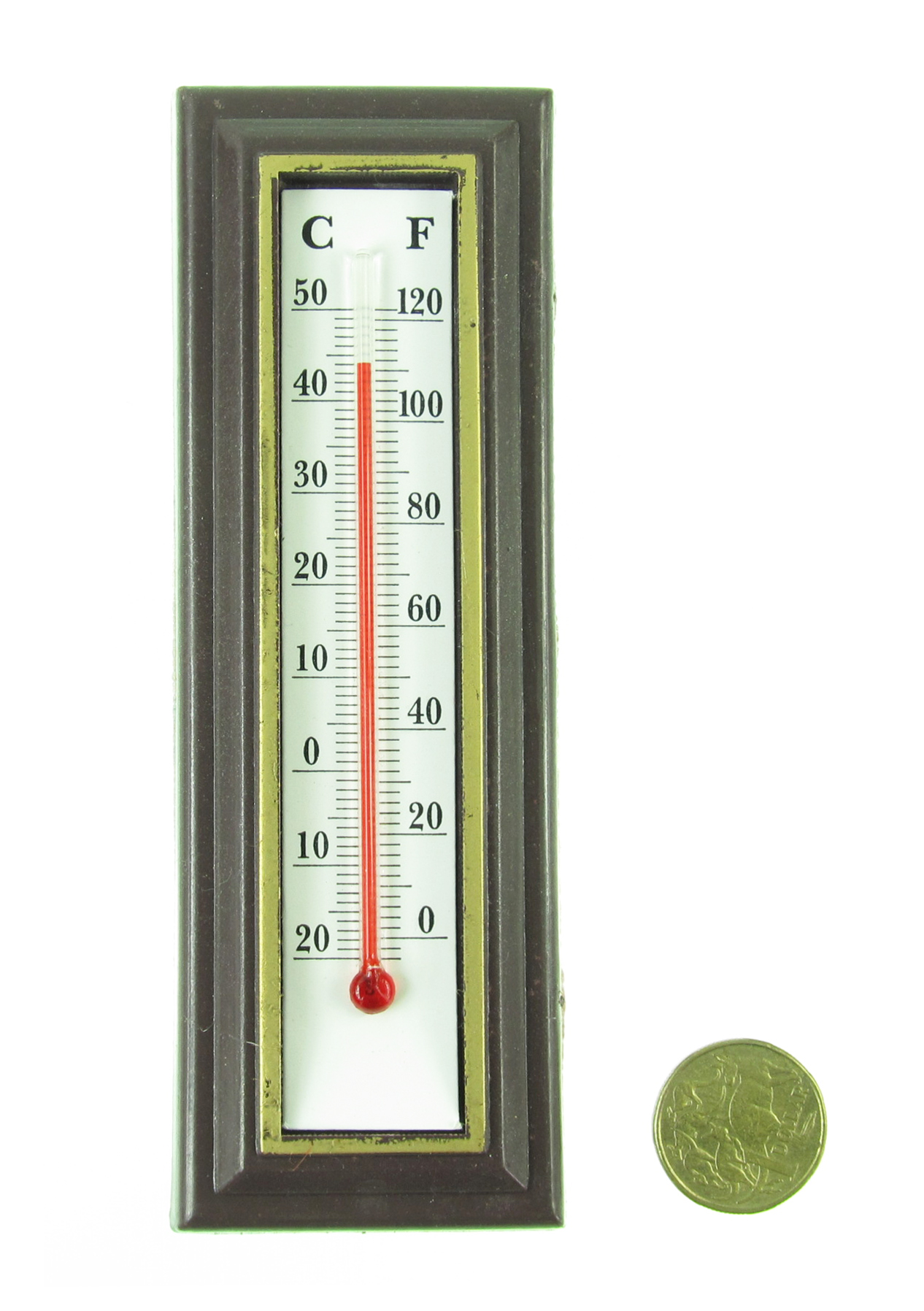 Indoor Amp Outdoor Wall Thermometer Hanging Room Temperature